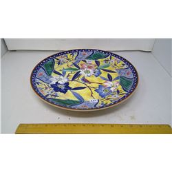 "Over 2' Wide (15"") Porcelain Japan Tajimi 1/4"" Thick - 'Bird in Flowers'"