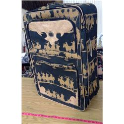 Cowboy Silhouette Large Suitcase, Brown and Black