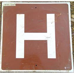 Hospital Road Sign - Government of Saskatchewan