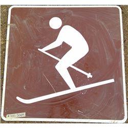Ski Road Sign