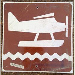 Plane Water Landing Road Sign