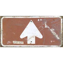 Forward Arrow Road Sign - Government of Saskatchewan