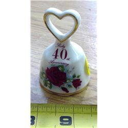 Ruby 40th Anniversary Bell