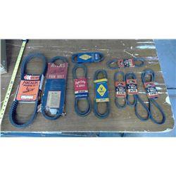 9 Assorted Pulley/Gear/Motor Belts