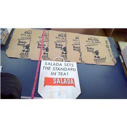 "Vintage N.O.S. ""Salada Tea"" Shopping Bag - Roin Hood Hawk Bags - N.O.S."