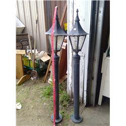 Pr. 4 Metal Outdoor - Lamp Post Light