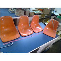 Set of 4 Mid Century Modern Fiberglass Chairs