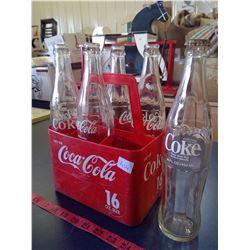 Set of 6 - 1603 Coca-Cola Bottles w/ Carrier
