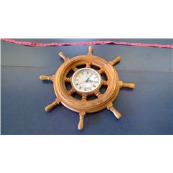 Ships Wheel Clock - Wakina