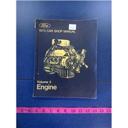 1973 Ford Car Shop Manual. Vol. 2 - Engine
