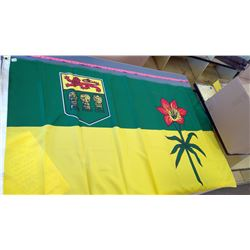 Hg. 1960's Saskatchewan Prairie Lily Flag