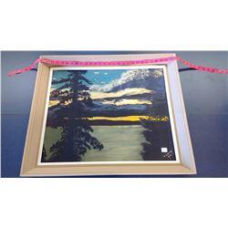 K. Lang Lake Scene Painting