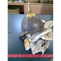 Military Style Helmet with Spike Top