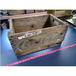 Wooden Coca-Cola Drink Crate - Stained