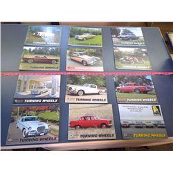 "Vintage. Studebaker Drivers Club ""Turning Wheels"" Books - Lot of 12"