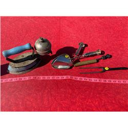 Misc. Antique Steel and Brass Items - Iron, Curling Iron, etc.