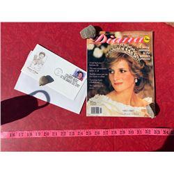 Princess Diana Magazine and Pasty Cline Envelope