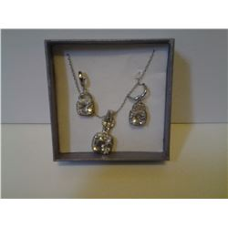 Bling Necklace and Earrings