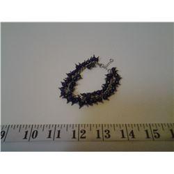 Purple Quartzite w/ Stainless Steel Bracelet