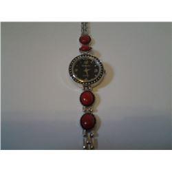 Strada Watch with Cherry Quartz Bracelet