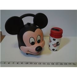 Mickey Mouse Lunch Box and Thermos - Aladdin Industries Inc. Nashville USA