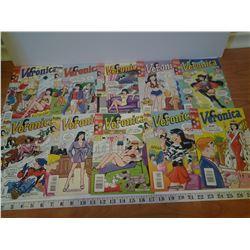10x Veronica Comics