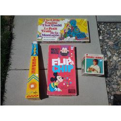 The Little Engine That Could, Trouble Bubble, Mickey Mouse Flip a Chip, and Tippy Teepee Games