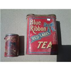 2 Blue Ribbon Cans