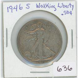 1946 USA Silver 50 Cents Walking Liberty