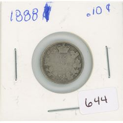 1888 10 Cent Canadian Silver
