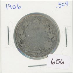 1906 50 Cents Canadian Silver