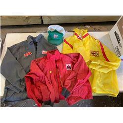 New Holland, I.H & Esso Jackets + Pilsner Hat