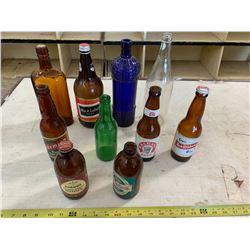 10- Antique Liquor Bottles