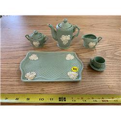 Unmarked Ceramic Mini Tea Set