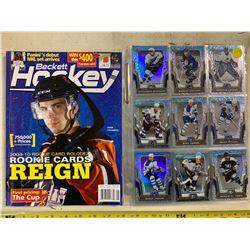 Becket Hockey Card Values Dec/Jan 2013 Magazine + 50 McDonald's Hockey Cards 2007-08