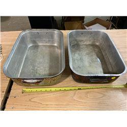 2- Old Roast Pans