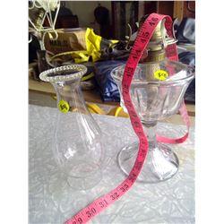 White Star Glass Kerosene Lamp