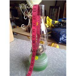 Aguila LUX.SA Green Kerosene Lamp - Glass