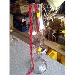 White Flame Glass Kerosene Lamp w/ Pyrex Top