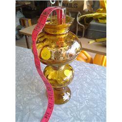 Small Amber Kerosene Lamp