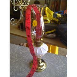 White and Gold Kerosene Lamp