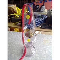 Correct Kerosene Lamp Lightly Tinted Pink - Rochester ABCO