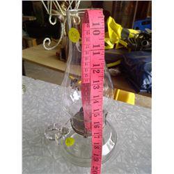 White Flame Glass Kerosene Lamp w/ Handle
