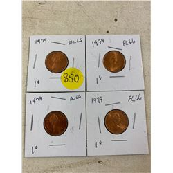 4- 1979 Canadian Pennies