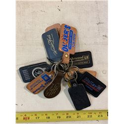 10- Leather Key Chains