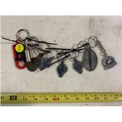 9- Assorted Key Chains