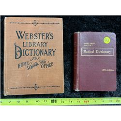 2- Vintage Dictionaries (one w/ no date)