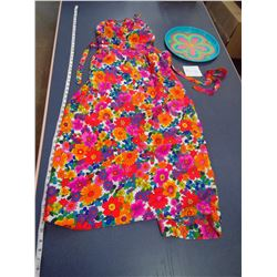 Hippy Dress + Blue Serving Tray