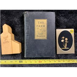 Farm Book, Wheat Art, and Pen Holder
