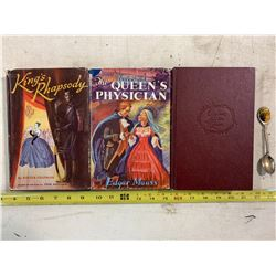 3- Books on Royalty + Prince & Princess of Wales Spoon